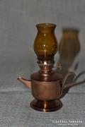 Rezezett fém mini petróleum lámpa  ( 0021 )