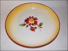 Bonyhádi virágos tálca , kínáló , asztalközép