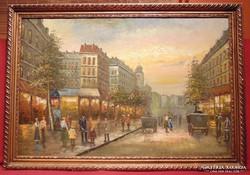 Berkes A   / Gyönyörü 1900 körüli  Budapesti életkép