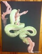 Kígyó digitalisan nyomtatott kép