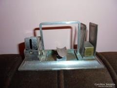 Art deco fém  szivarvágó-gyufatartó