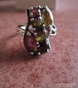 Turmalin köves ezüst gyűrű