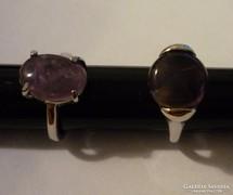 Bizsu gyűrűk féldrágakővel