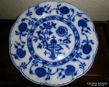 Antik angol kobalt festéssel  tányér