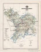 Jász - Nagykun - Szolnok vármegye térkép 1894, eredeti