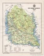 Bács - Bodrog vármegye térkép 1895, eredeti, antik