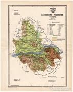 Esztergom vármegye térkép 1896, eredeti, antik