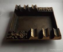 Iparművészeti bronz hamutartó zsűrizett
