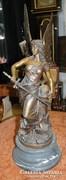 A Harcos Angyal , bronzszobor, jelzett, Mc Williams 1932.