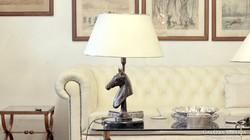 Lovas lámpa tömör rézből - PL: lovasoknak kitűnő ajándék