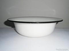 Zománcozott tál lavór - 26 cm átmérő - Szovjet CCCP