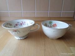 2 db régi Bavaria porcelán csésze teáscsésze