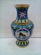 Tűz zománc váza