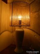 Retro porcelán asztali lámpa