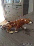Régi Royal Dux porcelán kézzel festett tigris