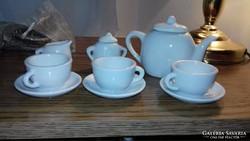 Hófehér babaporcelán teás készlet