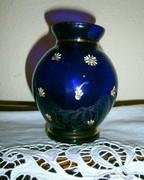 Parádi kézzel festett antik üveg váza