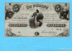Kossuth Emigrációs 5 Forint 1852