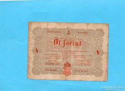 Kossuth 5 Forint 1848 Piros!