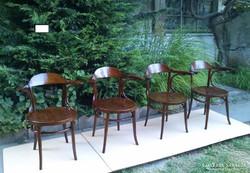 Antik J&J Kohn Eredeti Thonet Garnitúra 4 karfás székek!