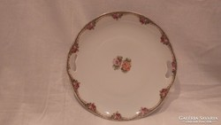 Prov SXE E.S. porcelán antik virágos tál