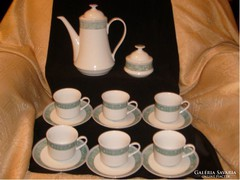 8 db-os Bohemia kávés/teás készlet,jelzett