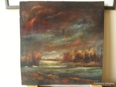 20. századi művész kvalitásos festménye!  LEÁRAZÁS