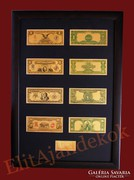 24K arany antik dollár bankjegyek - SZÍNEZVE