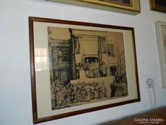 Rembrandt Ecce Homo - rézkarc nyomat