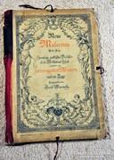 Szecessziós tapéta mintalap könyv