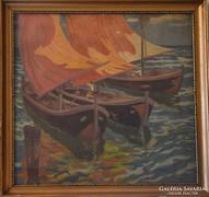 Bölcskey Ferenc (1897-?): Vitorlások Bragozzánál