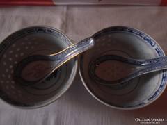 2 db  rizses tál kanállal