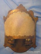 40x32  2égős,marhabőr díszes lámpa