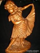 Szobor aranyozott barokk kislány 40 cm-es