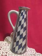 21 cm magas kézzel készült füles  kancsó váza   1701/3