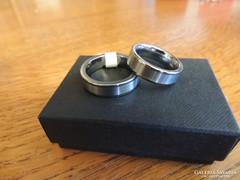 Alejandro Tungsten wolfram karbid karikagyűrű pár