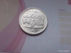 Belga ezüst 100 frank aUNC szép db 18 gramm 0,835