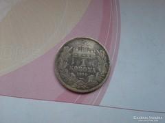 1894 magyar ezüst 1 korona,szép patinával