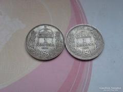 1893,1894 magyar 1 korona