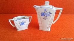 Porcelán Kiöntő + cukortartó  (Art Deco)