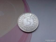 """1970 """"D"""" ezüst 5 márka 11,2 gramm 0,625"""