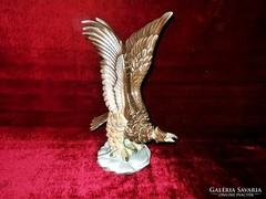 Antik Herendi porcelán Turul madár 35 cm