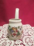 Régi jelenetes porcelán pipa  1701/4