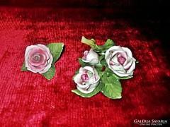 Ritkaság Antik Hibátlan Herendi porcelán rózsák