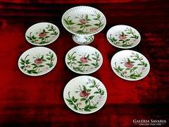 Eredeti Antik porcelán desszert étkészlet