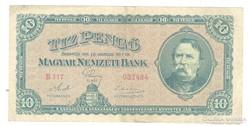10 pengő 1926 Nagyon ritka I.
