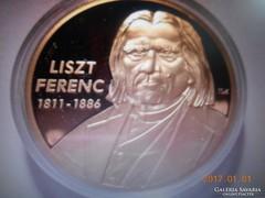 UNC /24 K Aranyozott Liszt Ferenc Emlék  Érme