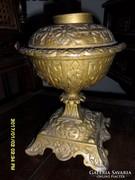 Antik asztali öntöttvas petróleumlámpa