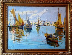 Négely Rudolf (1883-1941) Eredeti Festmény !