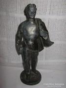 Férfialakot ábrázoló ón szobor!